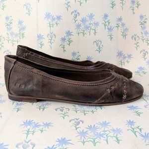NEW Bed Stu Lexie Testa Di Moro Leather Flats 7.5M